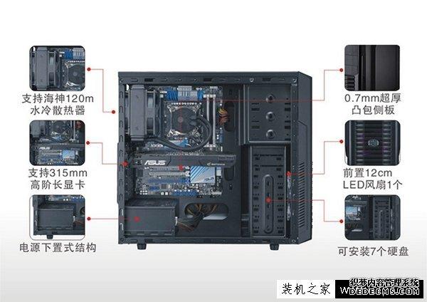 2017七代i5超频主机 i5-7600K配GTX1060组装电脑配置清单及价格-www.lotpc.com